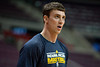 Dec 15, 2012; Auburn Hills, MI, USA; Indiana Pacers power forward Tyler Hansbrough (50) warms up before the game against the Detroit Pistons at The Palace. Mandatory Credit: Tim Fuller-USA TODAY Sports