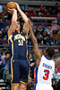 Dec 15, 2012; Auburn Hills, MI, USA; Detroit Pistons point guard Rodney Stuckey (3) guards Indiana Pacers power forward Tyler Hansbrough (50)<br /> during the third quarter at The Palace. Pacers won 88-77. Mandatory Credit: Tim Fuller-USA TODAY Sports