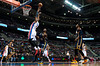 Dec 15, 2012; Auburn Hills, MI, USA; Detroit Pistons center Andre Drummond (1) goes up for the alley oop during the first quarter against the Indiana Pacers against the Indiana Pacers at The Palace. Mandatory Credit: Tim Fuller-USA TODAY Sports