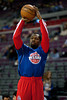 Dec 15, 2012; Auburn Hills, MI, USA;Detroit Pistons point guard Rodney Stuckey (3) warms up before the game against the Indiana Pacers at The Palace. Mandatory Credit: Tim Fuller-USA TODAY Sports
