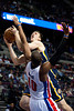 Dec 15, 2012; Auburn Hills, MI, USA; Indiana Pacers power forward Tyler Hansbrough (50) goes up against Detroit Pistons center Greg Monroe (10) during the third quarter at The Palace. Pacers won 88-77. Mandatory Credit: Tim Fuller-USA TODAY Sports
