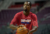 Dec 15, 2012; Auburn Hills, MI, USA; Detroit Pistons point guard Rodney Stuckey (3) warms up before the game against the Indiana Pacers at The Palace. Mandatory Credit: Tim Fuller-USA TODAY Sports