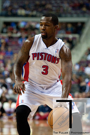 Dec 15, 2012; Auburn Hills, MI, USA; Detroit Pistons point guard Rodney Stuckey (3) during the second quarter against the Indiana Pacers at The Palace. Mandatory Credit: Tim Fuller-USA TODAY Sports