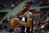 Dec 15, 2012; Auburn Hills, MI, USA; Indiana Pacers small forward Sam Young (4) during the third quarter against the Detroit Pistons at The Palace. Pacers won 88-77. Mandatory Credit: Tim Fuller-USA TODAY Sports