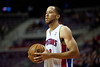 Dec 15, 2012; Auburn Hills, MI, USA; Detroit Pistons small forward Tayshaun Prince (22) during the first quarter against the Indiana Pacers at The Palace. Mandatory Credit: Tim Fuller-USA TODAY Sports