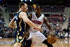 Dec 15, 2012; Auburn Hills, MI, USA; Indiana Pacers point guard Ben Hansbrough (23) guards Detroit Pistons point guard Rodney Stuckey (3) during the second quarter at The Palace. Mandatory Credit: Tim Fuller-USA TODAY Sports