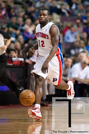 Feb 23, 2013; Auburn Hills, MI, USA; Detroit Pistons point guard Will Bynum (12) during the second quarter against the Indiana Pacers at The Palace. Mandatory Credit: Tim Fuller-USA TODAY Sports