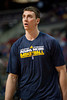 Feb 23, 2013; Auburn Hills, MI, USA; Indiana Pacers power forward Tyler Hansbrough (50) warms up before the game against the Detroit Pistons at The Palace. Mandatory Credit: Tim Fuller-USA TODAY Sports