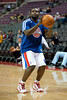 Feb 23, 2013; Auburn Hills, MI, USA; Detroit Pistons point guard Will Bynum (12) warms up before the game against the Indiana Pacers at The Palace. Mandatory Credit: Tim Fuller-USA TODAY Sports