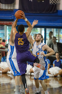 Ben Simmons, Nick Kay - LSU Tigers Basketball (featuring Australian Ben Simmons ) vs South East Queensland All Stars, Auchenflower Stadium, Brisbane, Queensland, Australia; Tuesday 18 August 2015. Photos by Des Thureson - http://disci.smugmug.com