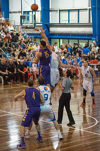 Ben Simmons, Mitchell Young - LSU Tigers Basketball (featuring Australian Ben Simmons ) vs South East Queensland All Stars, Auchenflower Stadium, Brisbane, Queensland, Australia; Tuesday 18 August 2015. Photos by Des Thureson - http://disci.smugmug.com