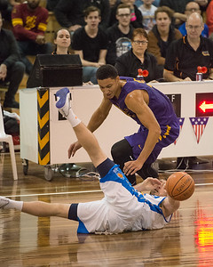Mitchell McCarron, Ben Simmons - LSU Tigers Basketball (featuring Australian Ben Simmons ) vs South East Queensland All Stars, Auchenflower Stadium, Brisbane, Queensland, Australia; Tuesday 18 August 2015. Photos by Des Thureson - http://disci.smugmug.com