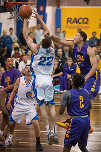 Nick Kay, Ben Simmons - LSU Tigers Basketball (featuring Australian Ben Simmons ) vs South East Queensland All Stars, Auchenflower Stadium, Brisbane, Queensland, Australia; Tuesday 18 August 2015. Photos by Des Thureson - http://disci.smugmug.com