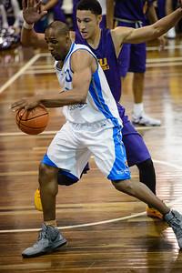 Erron Maxey, Ben Simmons - LSU Tigers Basketball (featuring Australian Ben Simmons ) vs South East Queensland All Stars, Auchenflower Stadium, Brisbane, Queensland, Australia; Tuesday 18 August 2015. Photos by Des Thureson - http://disci.smugmug.com