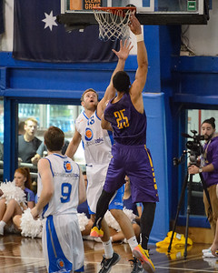 Mitchell Young, Ben Simmons - LSU Tigers Basketball (featuring Australian Ben Simmons ) vs South East Queensland All Stars, Auchenflower Stadium, Brisbane, Queensland, Australia; Tuesday 18 August 2015. Photos by Des Thureson - http://disci.smugmug.com