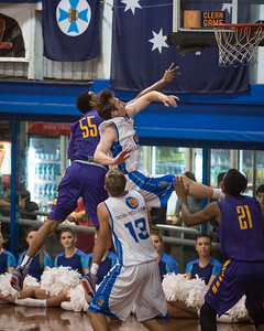 Tim Quarterman, Mitchell McCarron - LSU Tigers Basketball (featuring Australian Ben Simmons ) vs South East Queensland All Stars, Auchenflower Stadium, Brisbane, Queensland, Australia; Tuesday 18 August 2015. Photos by Des Thureson - http://disci.smugmug.com