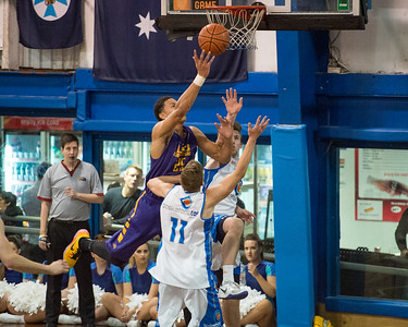 Ben Simmons, Mitchell McCarron - LSU Tigers Basketball (featuring Australian Ben Simmons ) vs South East Queensland All Stars, Auchenflower Stadium, Brisbane, Queensland, Australia; Tuesday 18 August 2015. Photos by Des Thureson - http://disci.smugmug.com