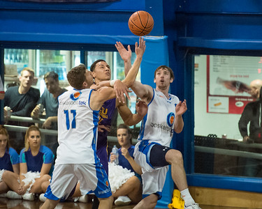 Ben Simmons, Mitchell McCarron, Alex Barker - LSU Tigers Basketball (featuring Australian Ben Simmons ) vs South East Queensland All Stars, Auchenflower Stadium, Brisbane, Queensland, Australia; Tuesday 18 August 2015. Photos by Des Thureson - http://disci.smugmug.com