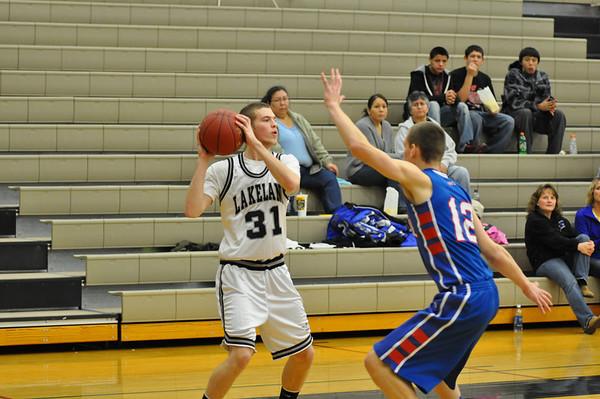 LUHS boys basketball vs. Merrill 12-2-11
