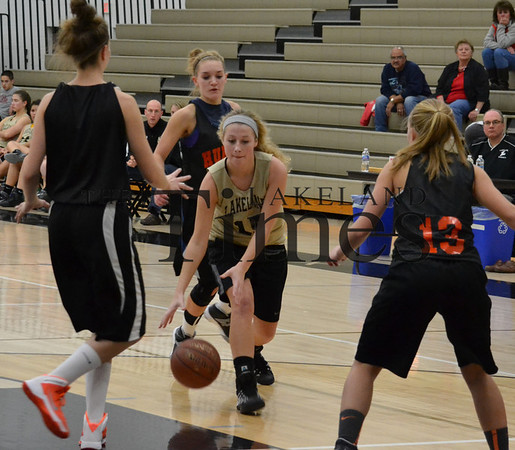 LUHS girls basketball scrimmage vs. Hurley 11-25-13