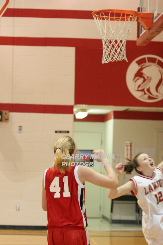 Lawson Vs Odessa Girls 9th BBall 012706 046