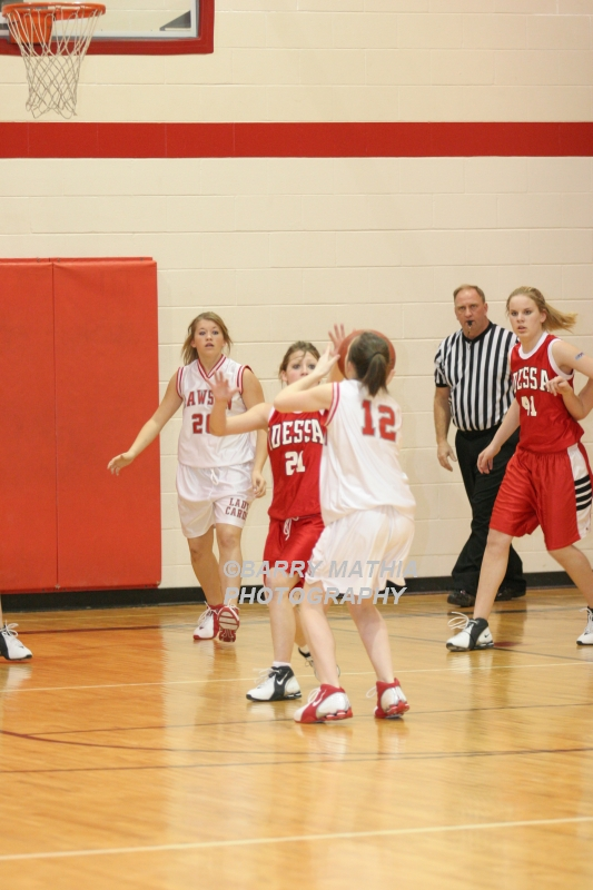 Lawson Vs Odessa Girls 9th BBall 012706 035