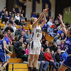 Leominster High School girls basketball played St. Bernard's on Tuesday night. St. B's player Andrea Sanchez puts up a three point shot during action in the game. SENTINEL & ENTERPRISE/JOHN LOVE