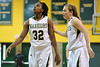 Nov 17, 2012; Detroit, MI, USA; Wayne State Warriors forward Talisha Bridges (32) and guard Kristen Long (11) during the game against the Lewis Flyers at the Matthaei Center. Credit: Tim Fuller-Wayne State Athletics