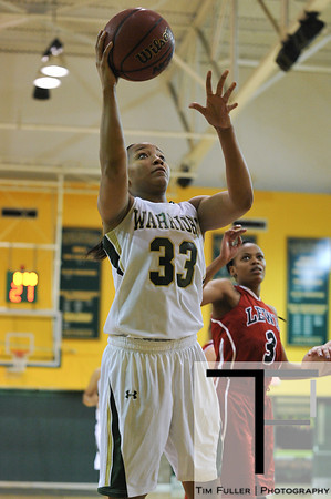 Nov 17, 2012; Detroit, MI, USA; Wayne State Warriors forward  Kayla Bridges (33) during the game against the Lewis Flyers at the Matthaei Center. Credit: Tim Fuller-Wayne State Athletics
