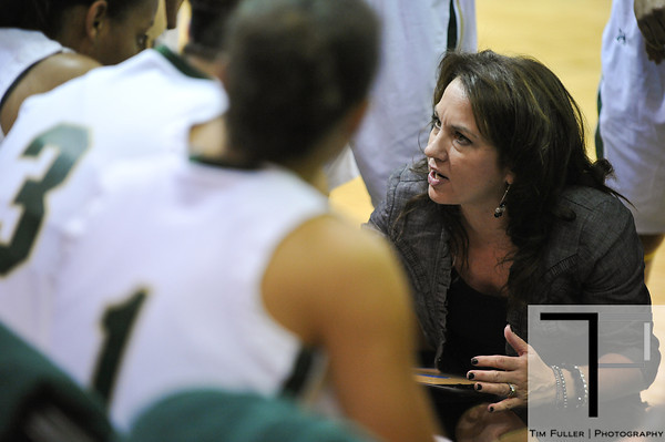 Nov 17, 2012; Detroit, MI, USA; Wayne State Warriors head coach Carrie Lohr during the game against the Lewis Flyers at the Matthaei Center. Credit: Tim Fuller-Wayne State Athletics