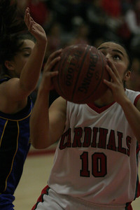 Lindsay Cardinal Christina Castro (10) goes to the bucket against Exeter in the section semifinal on February 26,2013.