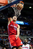 Dec 17, 2012; Auburn Hills, MI, USA; Los Angeles Clippers power forward Blake Griffin (32) slam dunks during the first quarter against the Detroit Pistons at The Palace. Mandatory Credit: Tim Fuller-USA TODAY Sports