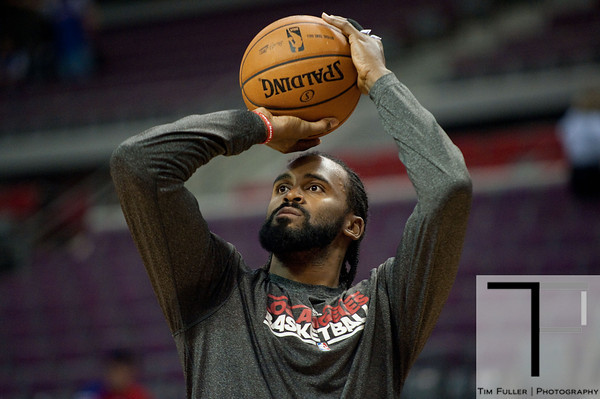 Dec 17, 2012; Auburn Hills, MI, USA;Los Angeles Clippers center Ronny Turiaf (21) before the game against the Detroit Pistons at The Palace. Mandatory Credit: Tim Fuller-USA TODAY Sports