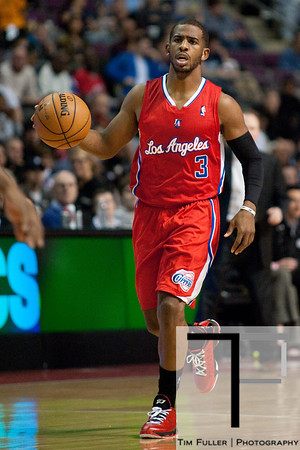 Dec 17, 2012; Auburn Hills, MI, USA; Los Angeles Clippers point guard Chris Paul (3) during the second quarter against the Detroit Pistons at The Palace. Mandatory Credit: Tim Fuller-USA TODAY Sports