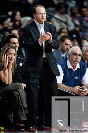 Dec 17, 2012; Auburn Hills, MI, USA; Detroit Pistons head coach Lawrence Frank during the third quarter against the Los Angeles Clippers at The Palace. Mandatory Credit: Tim Fuller-USA TODAY Sports