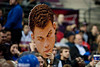 Dec 17, 2012; Auburn Hills, MI, USA; A fans holds a cutout of Los Angeles Clippers power forward Blake Griffin (32) during the game against the Detroit Pistons at The Palace. Clippers won 88-76. Mandatory Credit: Tim Fuller-USA TODAY Sports