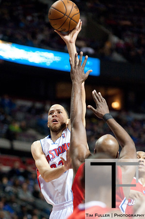 Dec 17, 2012; Auburn Hills, MI, USA; Detroit Pistons small forward Tayshaun Prince (22) drives to the basket during the third quarter against the Los Angeles Clippers at The Palace. Clippers won 88-76. Mandatory Credit: Tim Fuller-USA TODAY Sports