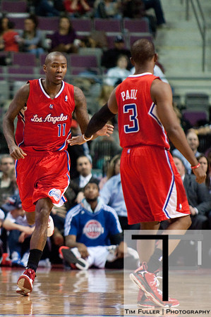 Dec 17, 2012; Auburn Hills, MI, USA; Los Angeles Clippers shooting guard Jamal Crawford (11) high fives point guard Chris Paul (3) during the fourth quarter against the Detroit Pistons at The Palace. Clippers won 88-76. Mandatory Credit: Tim Fuller-USA TODAY Sports