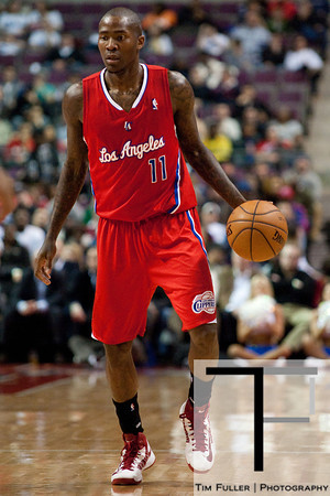 Dec 17, 2012; Auburn Hills, MI, USA; Los Angeles Clippers shooting guard Jamal Crawford (11) during the second quarter against the Detroit Pistons at The Palace. Mandatory Credit: Tim Fuller-USA TODAY Sports
