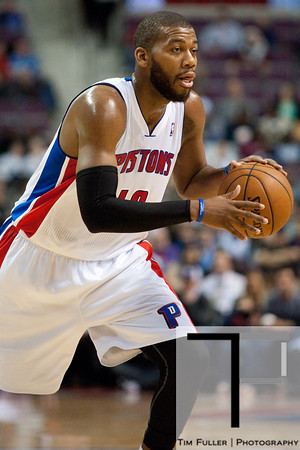 Dec 17, 2012; Auburn Hills, MI, USA; Detroit Pistons center Greg Monroe (10) during the fourth quarter against the Los Angeles Clippers at The Palace. Clippers won 88-76. Mandatory Credit: Tim Fuller-USA TODAY Sports