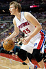 Dec 17, 2012; Auburn Hills, MI, USA; Detroit Pistons small forward Kyle Singler (25) during the third quarter against the Los Angeles Clippers at The Palace. Clippers won 88-76. Mandatory Credit: Tim Fuller-USA TODAY Sports