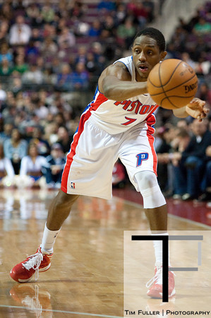 Dec 17, 2012; Auburn Hills, MI, USA; Detroit Pistons point guard Brandon Knight (7) during the fourth quarter against the Los Angeles Clippers at The Palace. Clippers won 88-76. Mandatory Credit: Tim Fuller-USA TODAY Sports