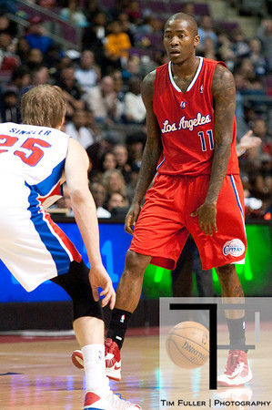 Dec 17, 2012; Auburn Hills, MI, USA; Los Angeles Clippers shooting guard Jamal Crawford (11) during the first quarter against the Detroit Pistons at The Palace. Mandatory Credit: Tim Fuller-USA TODAY Sports