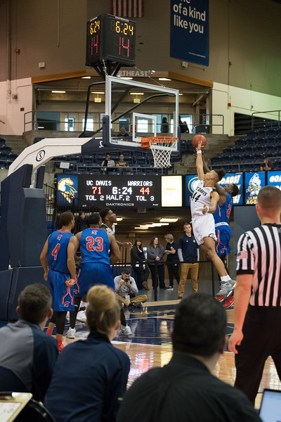 Goode leaps for an offensive rebound