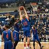 Grabbing a rebound!