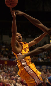 USC men's basketball vs. No. 15 UCLA at the Sports Arena, 2.19.06, USC won 71-68.   LOS ANGELES (AP) - Nick Young had 15 points and six rebounds, reserve Dwayne Shackleford scored all 12 of his points in the second half, and short-handed Southern California upset No. 15 UCLA 71-68 on Sunday night.  Lodrick Stewart scored 13 points, Ryan Francis had 12, and Abdoulaye Ndiaye added 10 for the Trojans (16-9, 7-7), who snapped a season-high three-game losing streak.  The Trojans won without second-leading scorer Gabe Pruitt, who missed his third straight game due to an injured left knee. USC had lost its last three games to UCLA including a 66-45 setback at Pauley Pavilion last month.