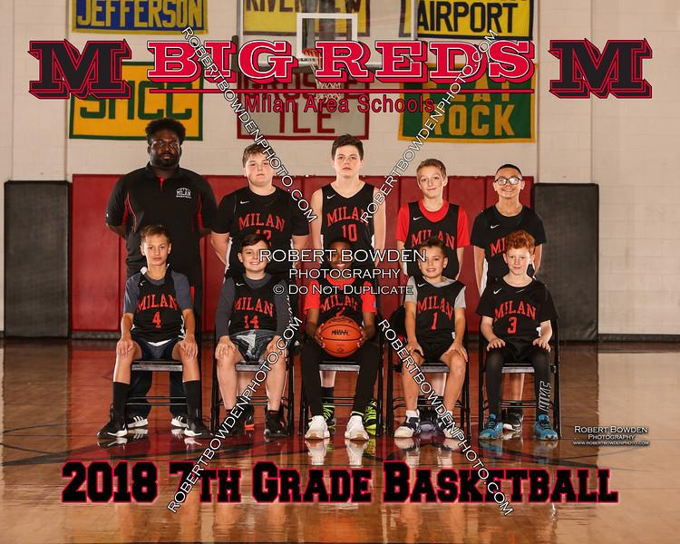 Milan 8x10 7th Grade Mens Basketball 8x10 2018