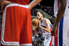 Dec 30, 2012; Auburn Hills, MI, USA; Detroit Pistons small forward Tayshaun Prince (22) shoots the game winning free throw during the fourth quarter against the Milwaukee Bucks at The Palace. Pistons won 96-94. Mandatory Credit: Tim Fuller-USA TODAY Sports
