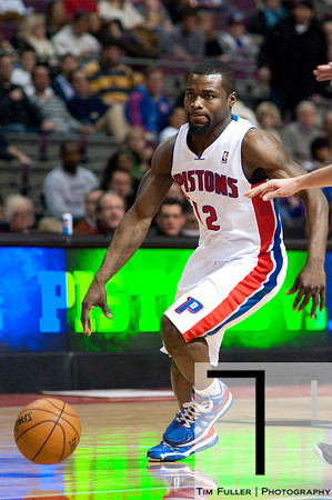 Dec 30, 2012; Auburn Hills, MI, USA; Detroit Pistons point guard Will Bynum (12) during the third quarter against the Milwaukee Bucks at The Palace. Pistons won 96-94. Mandatory Credit: Tim Fuller-USA TODAY Sports