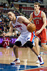 Dec 30, 2012; Auburn Hills, MI, USA; Detroit Pistons small forward Tayshaun Prince (22) during the fourth quarter against the Milwaukee Bucks at The Palace. Pistons won 96-94. Mandatory Credit: Tim Fuller-USA TODAY Sports